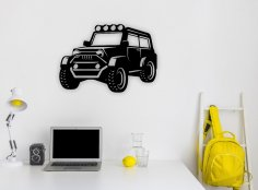 Laser Cut Jeep Wall Art Free Vector