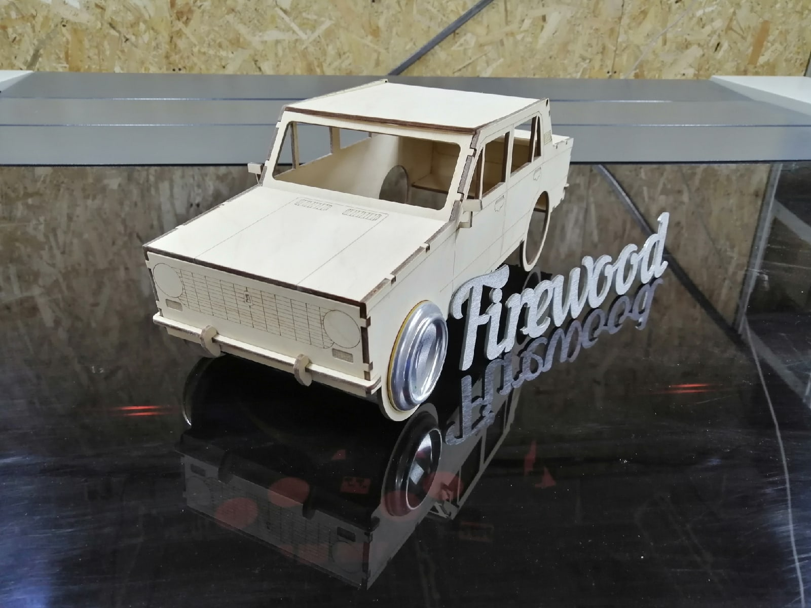 Laser Cut Car Model Beer Holder Free Vector
