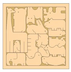 Laser Cut Creative Animal Jigsaw Puzzle Game For Kids Free Vector