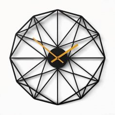 Laser Cut Polygon Wall Clock Free Vector