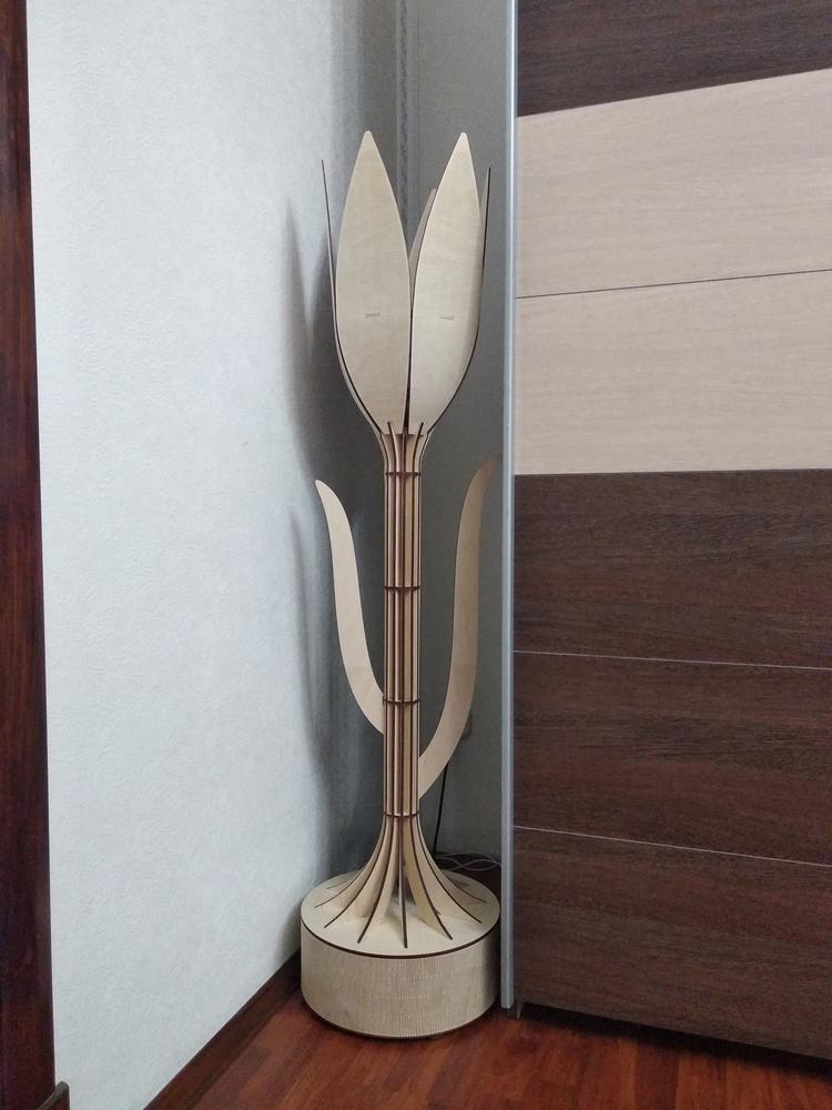 Laser Cut Decorative Tulip Floor Lamp Free Vector