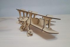 Laser Cut Aircraft Model Free Vector