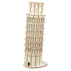 Laser Cut Leaning Tower Of Pisa 3d Wooden Puzzle Constructor Kit PDF File