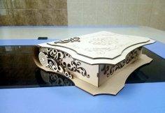 Laser Cut Decorative Folding Book Box Free Vector