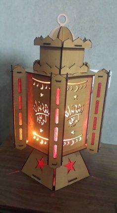 Laser Cut Ramadan Fanoos Mdf Wooden Ramadan Lantern Free Vector