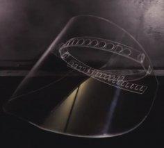 Laser Cut Face Shield Mask COVID-19 DXF File