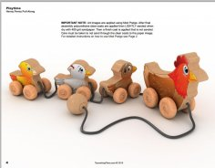 Henny Penny Pull Along Toy Wood Toy Plan Set PDF File