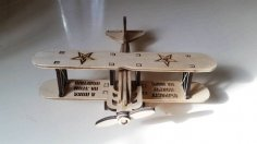Laser Cut Airplane Plans CNC Template Free Vector