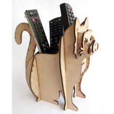Laser Cut Remote Control Holder Free Vector
