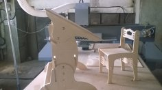 Laser Cut Desk and Chair DXF File