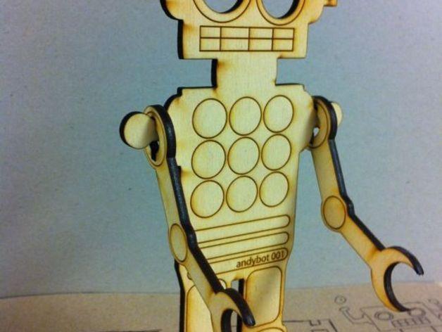 Laser Cut Robot Free Vector