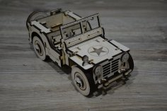 Laser Cut Jeep Free Vector