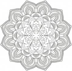 Mandala Design Vector Free Vector