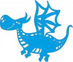 Laser Cut Drakosha the Dragon Free Vector