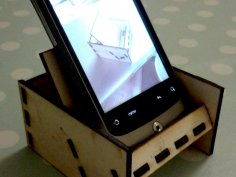 Laser Cut Mobile Phone Stand SVG File