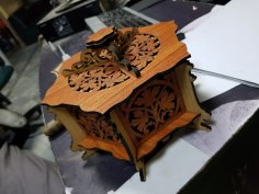 Wooden Hexagonal Box CNC Router Laser Template PDF File