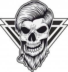 Smoke Skull Vector Free Vector
