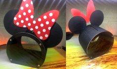 Laser Cut Piggy Bank Minnie Mouse Free Vector