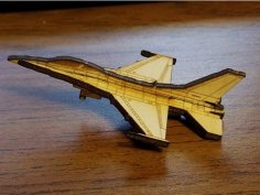 Laser Cut F-16 Fighting Falcon 3mm SVG File