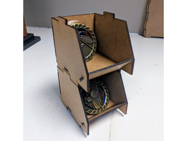 Laser Cut Stackable Box 3 Inch Free Vector