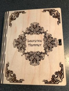 Laser Cut Booklet Book Cover Template SVG File
