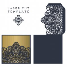 Laser Cut Invitation Card Template Free Vector