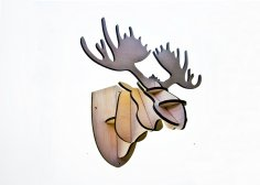 Moose Head Jewelry Stand Laser Cutting Template SVG File