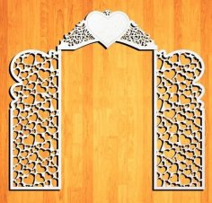Laser Cut Decor Wedding Screen Free Vector
