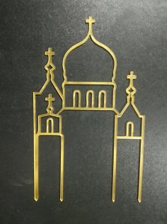 Laser Cut Christian Wedding Acrylic Cake Topper Free Vector