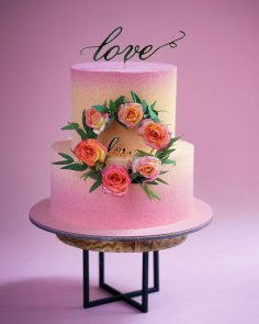 Laser Cut Love Cake Topper Free Vector
