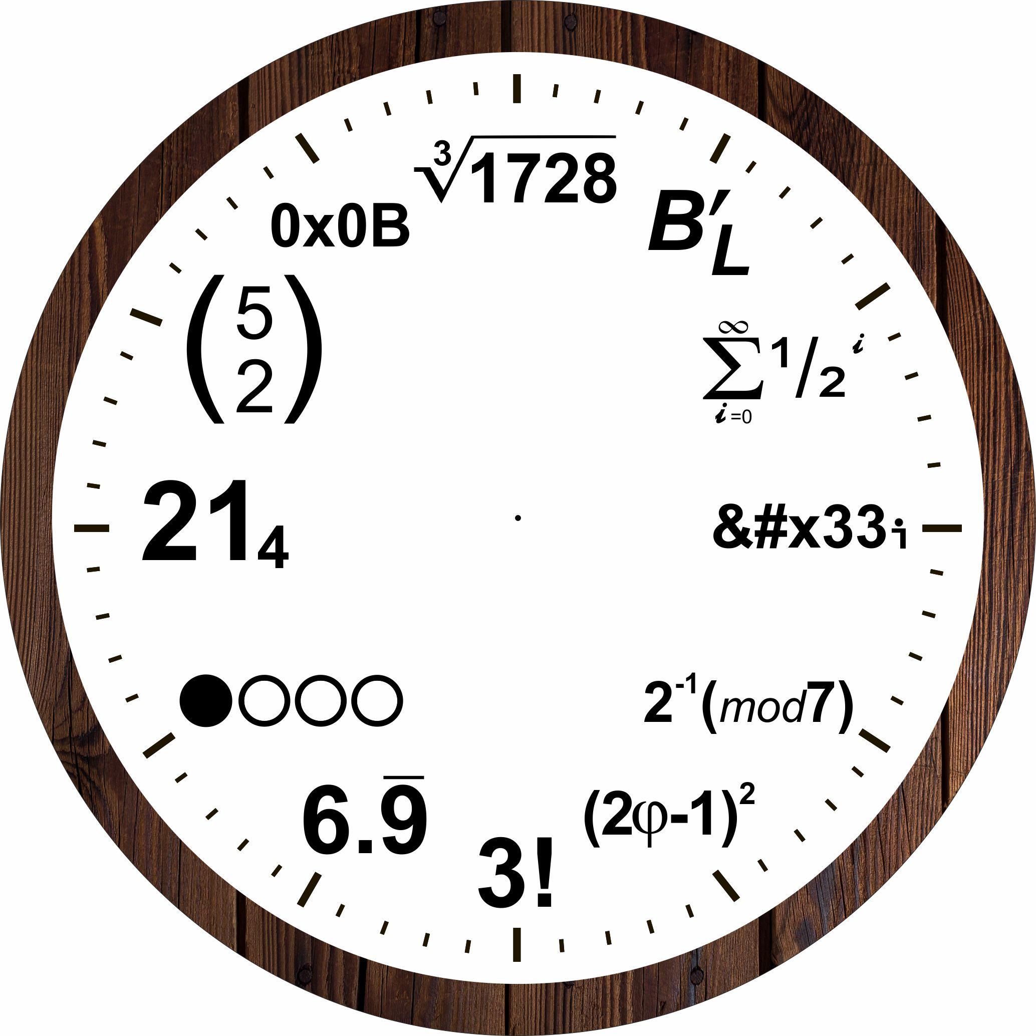 Laser Cut Mathematical Equations Wall Clock Free Vector