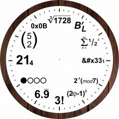 Laser Cut Mathematical Equations Wall Clock Free Vector
