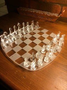 Laser Cut Chess Game Acrylic 5mm Free Vector