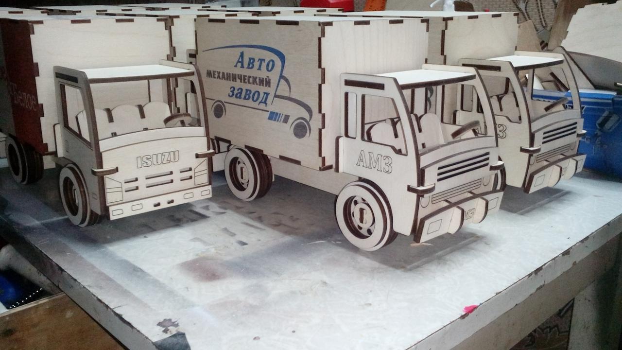 Laser Cut Box Truck Cargo Van Mini Truck Free Vector