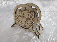 Laser Cut Wooden Napkin Holder Mouse 2020 Free Vector