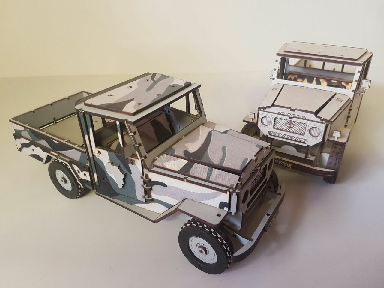 Laser Cut Toyota Land Cruiser Plywood 3mm PDF File