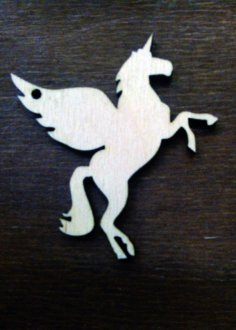 Laser Cut Wooden Flying Unicorn Free Vector