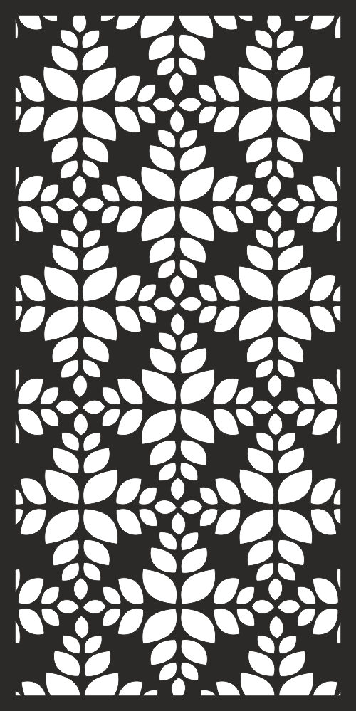 Decorative Screen Pattern for Laser Cutting Free Vector