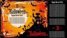Halloween Party Invitation Poster Free Vector