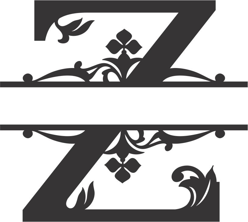 Regal Split Font Z DXF File