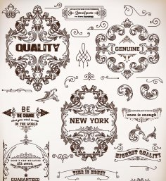 Vintage Floral Decorative Ornaments Free Vector
