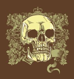 Skull T Shirt Graphic Design Free Vector