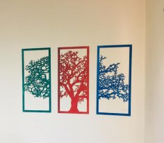 Laser Cut Wall Decor Tree Free Vector