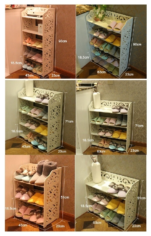 Laser Cut Shoe Shelves Decorative Storage Racks Free Vector