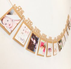 Laser Cut Baby Photo Frames Free Vector