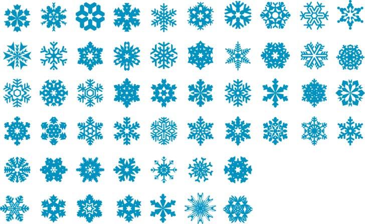 Snowflakes Vector Set Free Vector