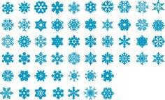 Snowflakes Vector Set Free Vector