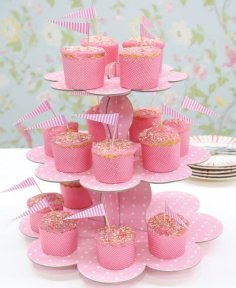 Party Cup Cake Stand Laser Cut Free Vector