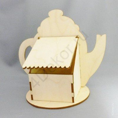Laser Cut Teapot Shaped Tea Box Free Vector