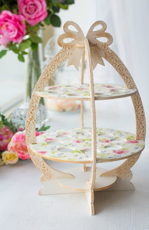 Laser Cut Wooden Easter Egg Stand Free Vector